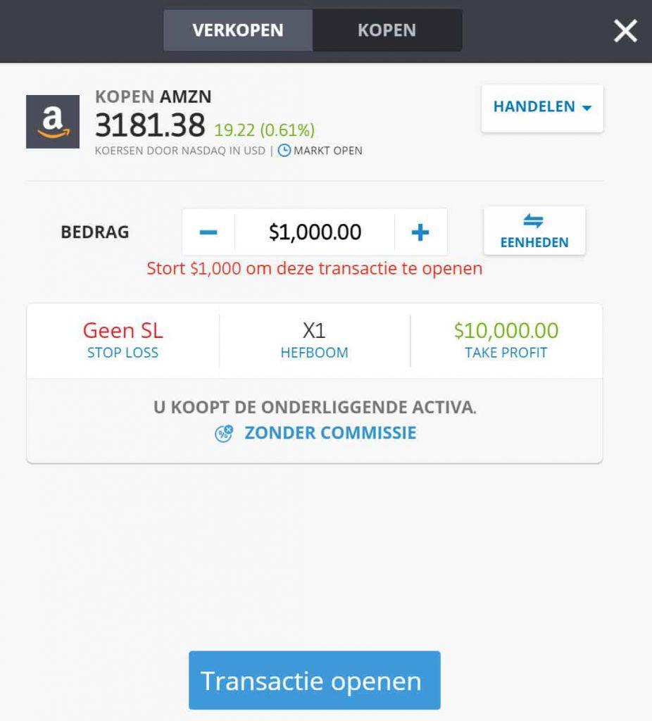 Amazon aandelen kopen eToro