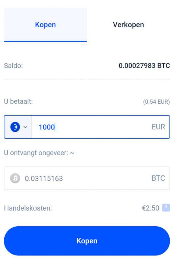 Bitcoins kopen Bitvavo